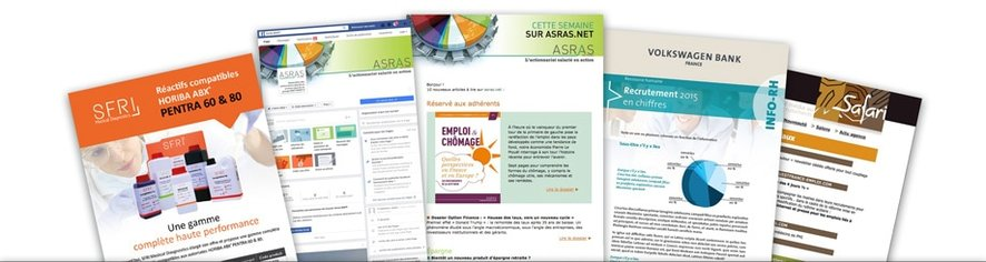 Exempls graphisme, emailings, newsletters de df      Design - Denis Foussard